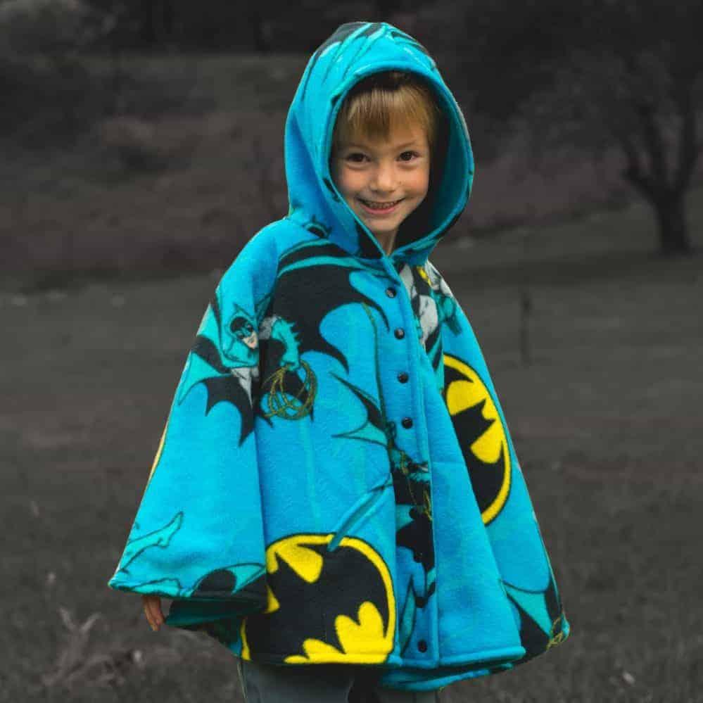 Fleece Child Poncho Hooded Poncho|  Kid Poncho Unlined Poncho Custom Poncho Car Seat Coat Lined Poncho Car Seat Poncho