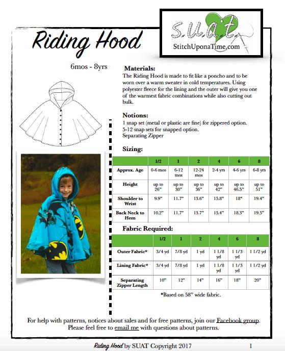 Riding Hood Poncho