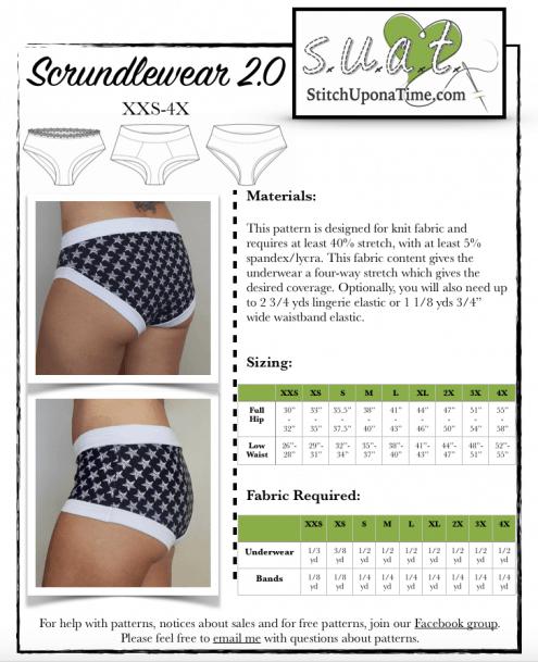 Scrundlewear 2.0 Women\'s Underwear – Stitch Upon a Time