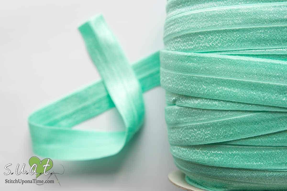 5 Yards Light Turquoise Fold Over Elastic