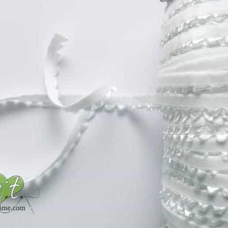 White lingerie elastic