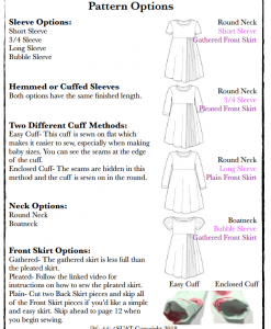 Wendybird Dress Pattern Options