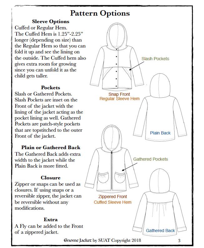 Gnome Jacket PDF Pattern